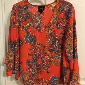 W5 Modern Paisley blouse